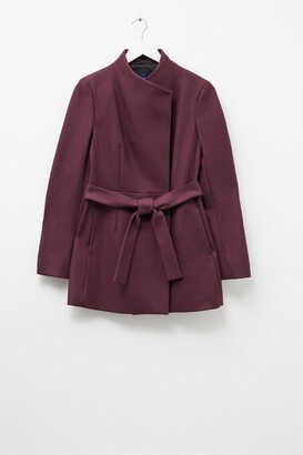 French Connection Crossover Belted Coat
