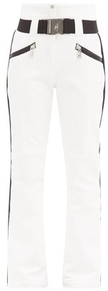 Toni Sailer Anais New Side-stripe Technical Ski Trousers - White Black