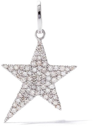 As 29 18kt white gold pave diamond Star pendant