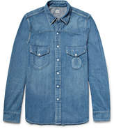 Chimala Slim-Fit Distressed Denim Western Shirt