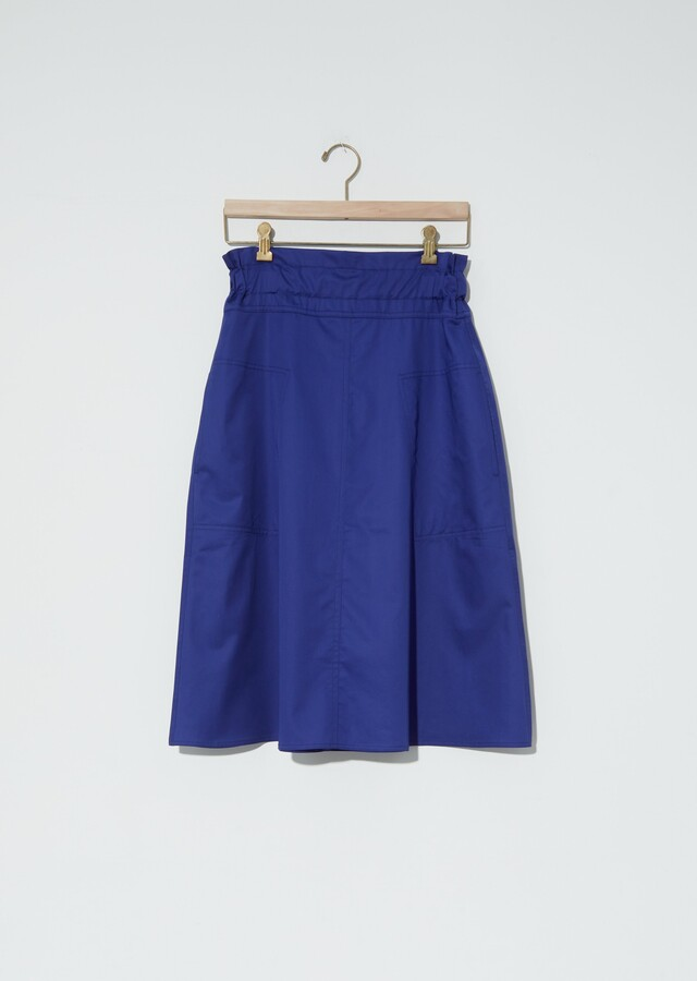 Thumbnail for your product : Sofie D'hoore Sabine Light Cotton Satin Skirt
