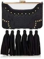 Skinny dip **black tassle rita clutch bag