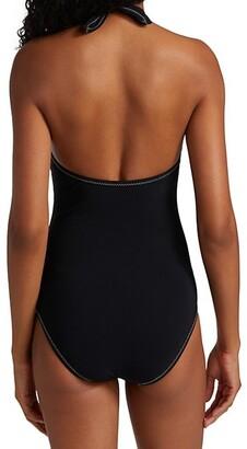 Karla Colletto Swim Cordelia Halterneck One-Piece Swimsuit