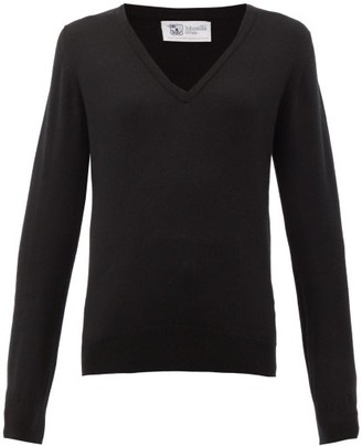 Johnstons of Elgin Johnston's Of Elgin - V-neck Cashmere Sweater - Black
