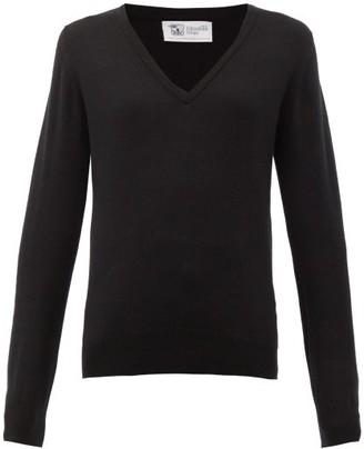 Johnstons of Elgin Johnston's Of Elgin - V-neck Cashmere Sweater - Womens - Black