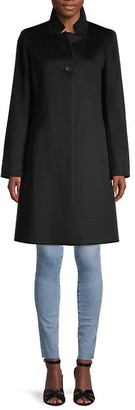 Cinzia Rocca Icons Button-Front Wool-Blend Coat