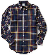 Brooks Brothers Plaid Regent-Fit Long-Sleeve Woven Shirt