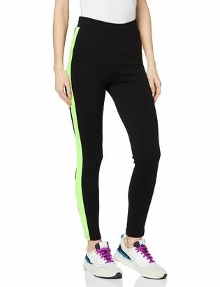 Urban Classics Women's Leggings Ladies Neon Side Stripe Hose Dress Pants