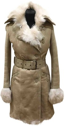 Patrizia Pepe White Mongolian Lamb Coat for Women