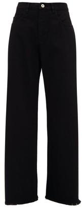 Marques Almeida Frayed-cuff Wide-leg Jeans - Black