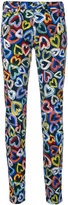 Love Moschino heart print jeans - women - Cotton/Spandex/Elastane - 26