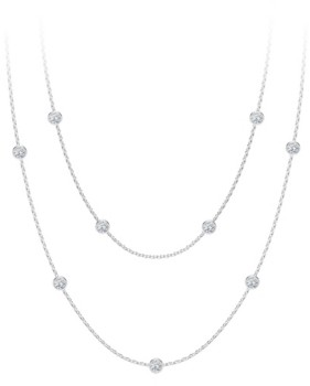 Forevermark Tribute Collection Diamond (7/8 ct. t.w.) Round Double Necklace in 18k Yellow, White and Rose Gold