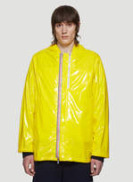 Thom Browne Cropped Slicker Parka Jacket in Yellow