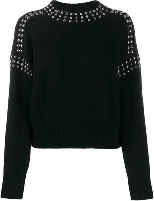 Diesel studded pullover jumper