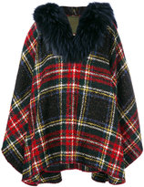 Mr & Mrs Italy trimmed plaid cape