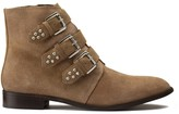 La Redoute Collections Plus Wide Fit Suede Boots with Studded Straps