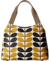 Orla Kiely Stem Check Print Classic Zip Shoulder Bag Shoulder Handbags