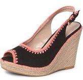 Dorothy Perkins Womens Black 'Riz' Sling Back Wedge Sandals- Black