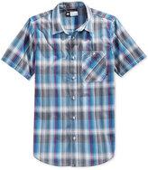 Lrg Men's Sundowner Plaid Poplin Short-Sleeve Shirt