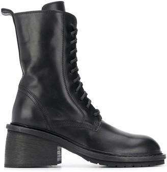Ann Demeulemeester Chunky-Heel Combat Boots