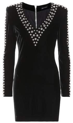 Balmain Studded velvet dress