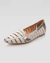Metallic Cutout Loafer