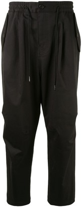 SONGZIO Signature String Drop-Crotch Cargo Trousers
