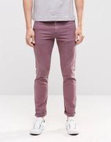 Asos Skinny Jeans In Purple