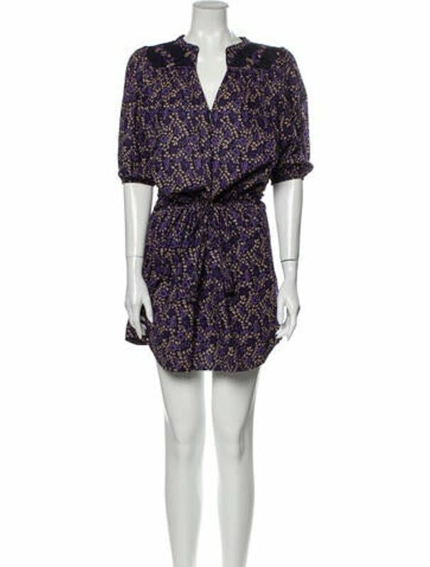 Ulla Johnson Printed Mini Dress Purple