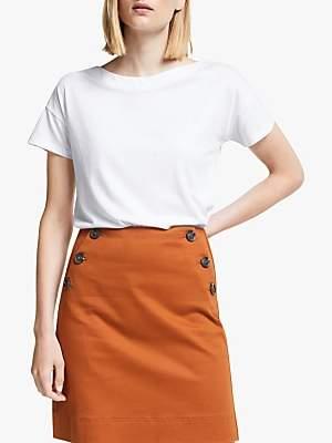 Boden Slash Neck T-Shirt, White