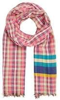MANGO Contrasting print scarf