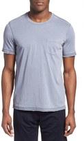 Daniel Buchler Washed Cotton Blend Crewneck T-Shirt