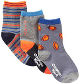 Osh Kosh 3-Pack Football Crew Socks