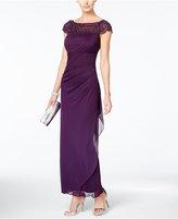 MSK Embellished Side-Ruffle Gown