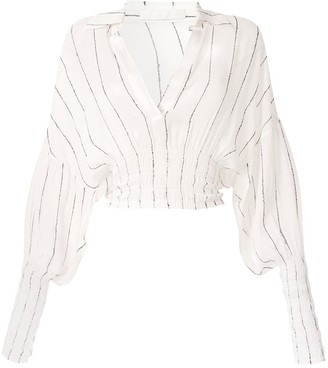 Dion Lee Shirred Stripe GGT Blouse