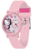 Hello Kitty HK023 Girls Light Pink Silicon Strap 3D Design Watch