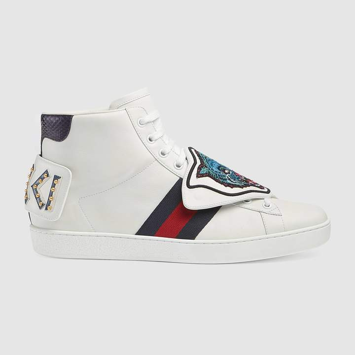 Gucci Ace high-top with removable patches