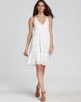 MICHAEL Michael Kors Eyelet Panel Sleeveless Dress