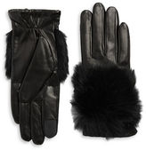 Rebecca Minkoff Rabbit Fur Accented Gloves