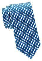 Salvatore Ferragamo Men's Lions Silk Tie