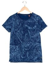 Scotch & Soda Boys' Paisley Print Short Sleeve T-Shirt