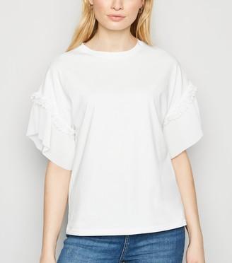 New Look Pleated Sleeve T-Shirt