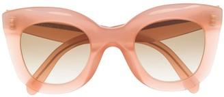 Celine Transparent Oversized-Frame Sunglasses