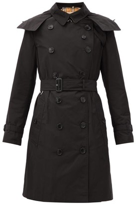 Burberry Kensington Taffeta Trench Coat - Black