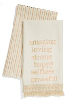 Levtex Mother Set Of 2 Fringe Dish Towels