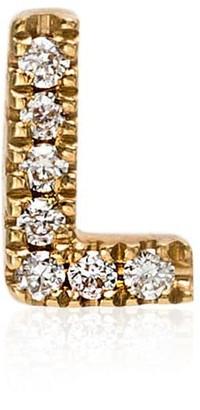 Loquet 18kt yellow gold diamond initial L charm