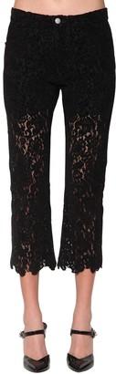 Philosophy di Lorenzo Serafini Lace Velvet Cropped Pants