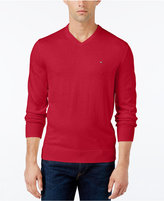 Tommy Hilfiger Men's Pima Cotton and Cashmere V-Neck Sweater