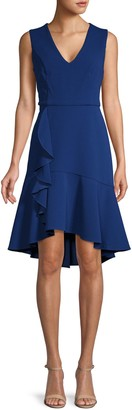 Tommy Hilfiger Sleeveless Ruffle Hem Dress