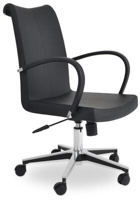 sohoConcept Tulip Task Chair Upholstery Color: Black, Upholstery Material: Black - PPM
